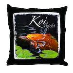 Orange Koi Throw Pillow