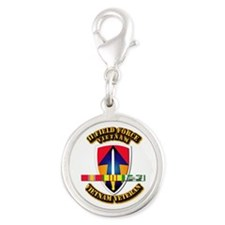 II Field Force Silver Round Charm