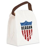 Reagan Patriot Shield Canvas Lunch Bag