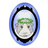 Christmas Cavy - Oval Ornament