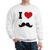 I Heart Mustache Sweatshirt