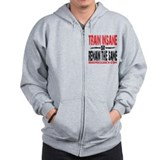 TRAIN INSANE - WHITE Zip Hoody