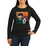 Husky Women's Long Sleeve Dark T-Shirt