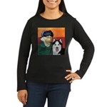 Husky Women's Long Sleeve Dark T-Shirt