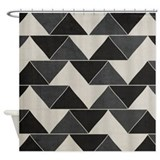 FELIX - Black Geometric - Shower Curtain