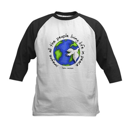 imagine_world_life_peace_dark.png Baseball Jersey