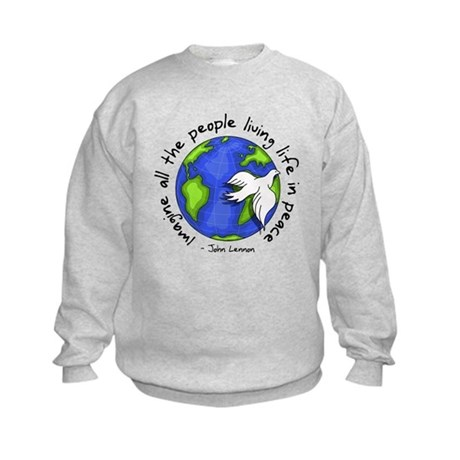 imagine_world_life_peace_dark.png Sweatshirt