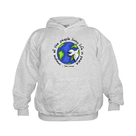 imagine_world_life_peace_dark.png Hoodie