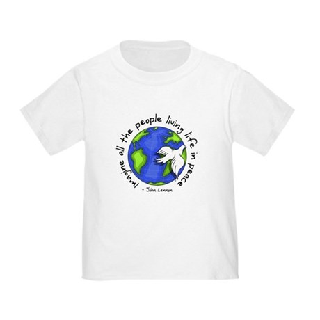 imagine_world_life_peace_dark.png T-Shirt