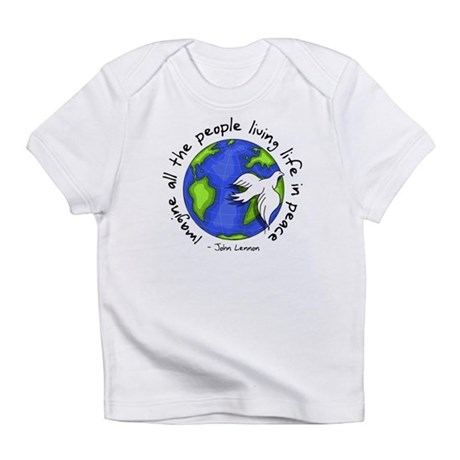 imagine_world_life_peace_dark.png Infant T-Shirt