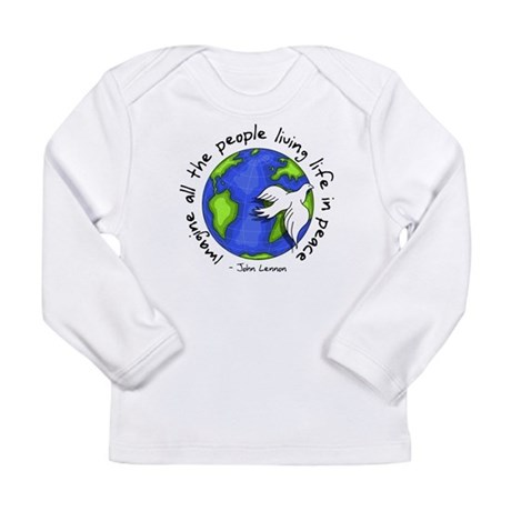 imagine_world_life_peace_dark.png Long Sleeve T-Sh