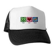 Peace Love Boxers Trucker Hat