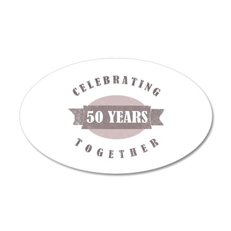 Vintage 50th Anniversary 20x12 Oval Wall Decal