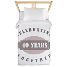 Vintage 40th Anniversary Twin Duvet