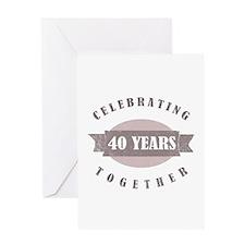 Vintage 40th Anniversary Greeting Card