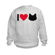 I love cats Sweatshirt