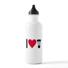 I love badminton Water Bottle
