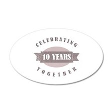 Vintage 10th Anniversary Wall Decal