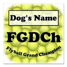 "FGDCh Flyball Grand Champ 3""X3"" Sq. Magn"