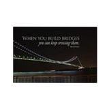 Build Bridges Rectangle Magnet (100 pack)