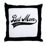 Best Mom Certified - Mothers day Throw Pillow