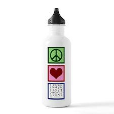 Peace Love ASL Water Bottle