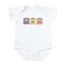 Monkey Trio Pastel Infant Bodysuit