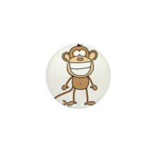 Big Monkey Grin Mini Button (10 pack)
