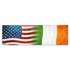 Irish American Flags Bumper Bumper Sticker
