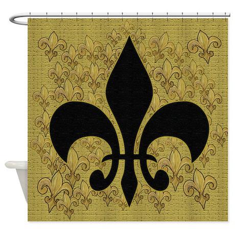Black Fleur De Lis Shower Curtain By Bythebeach