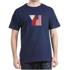 Philippine Flag & US Flag T-Shirt
