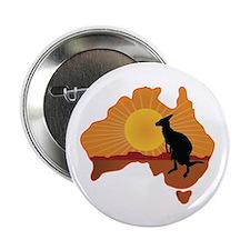 "Australia Kangaroo 2.25"" Button (100 pack)"