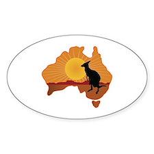 Australia Kangaroo Decal