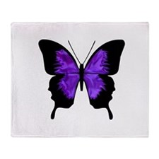 Maternity Butterfly purple and black Throw Blanket