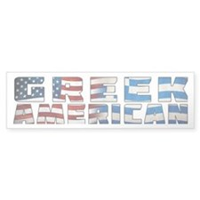 Greek American Text Flags Bumper Bumper Sticker