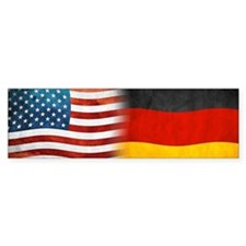 German American Flags Bumper Bumper Sticker