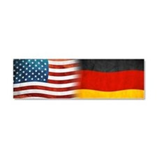 German American Flags Car Magnet 10 x 3