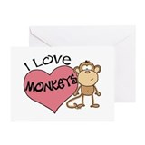 I Love Monkeys Greeting Cards (Pk of 10)