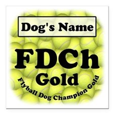 "FDCh Gold, Flyball Dog Champ. Gold 3""X3"""
