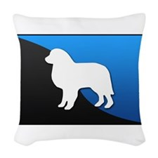 blueblack.png Woven Throw Pillow