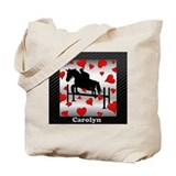 Horse and hearts Canvas Totes