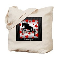 Fun Horse Jumper and Hearts Tote Bag