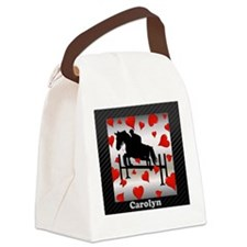 Fun Horse Jumper and Hearts Canvas Lunch Bag