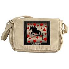 Fun Horse Jumper and Hearts Messenger Bag