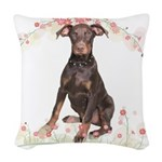 flowers.png Woven Throw Pillow