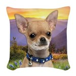 Chihuahua Meadow Woven Throw Pillow