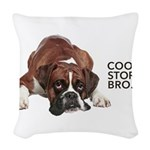 Cool Story Boxer Woven Throw Pillow