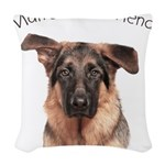 Mans Best Friend Woven Throw Pillow