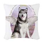angelwithwings.png Woven Throw Pillow