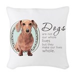 wholelives.png Woven Throw Pillow